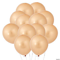 "Gold Metallic 11"" Latex Balloons"