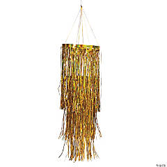 Gold Metallic Foil Fringe Chandelier