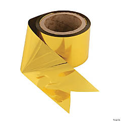 Gold Metallic Foil Streamers