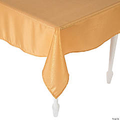 Gold Metallic Polyester Tablecloth - 60