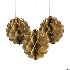 Gold Metallic Tissue Balls