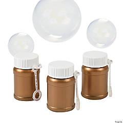 Gold Mini Bubble Bottles