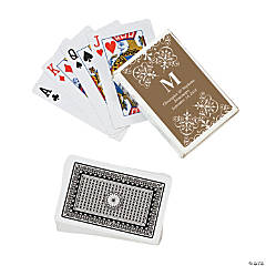 Gold Monogram Wedding Playing Cards