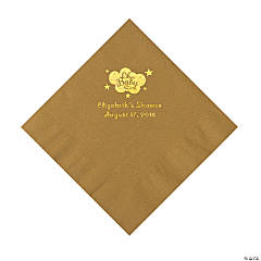 Gold Oh Baby Personalized Napkins with Gold Foil - Luncheon