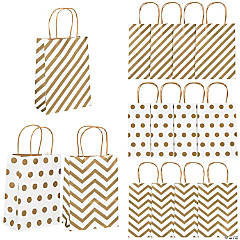 Gold Pattern Metallic Craft Bags