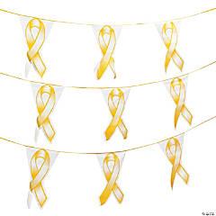 Gold Ribbon Plastic Pennant Banner