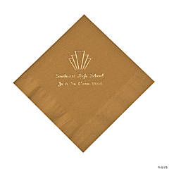Gold Roaring '20s Personalized Napkins with Gold Foil - Luncheon