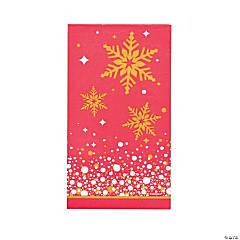 Gold Sparkle Christmas Dinner Napkins