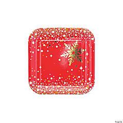 Gold Sparkle Christmas Paper Dessert Plates