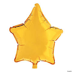 Gold Star-Shaped Mylar Balloons
