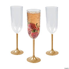 Gold Stem Champagne Glasses
