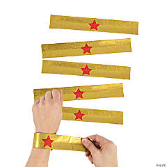 Gold Superhero Slap Bracelets
