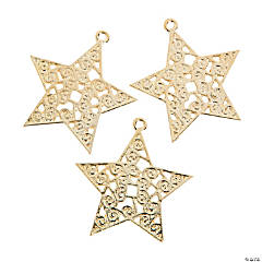 Gold Swirl Star Pendants