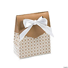 Gold Tent Favor Boxes With Bow