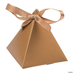 Gold Triangle Favor Boxes
