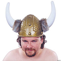 Gold Viking Hemet for Adults