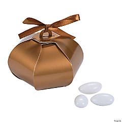 Gold Wedding Sphere Favor Boxes