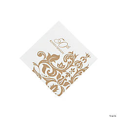 Golden Anniversary Beverage Napkins