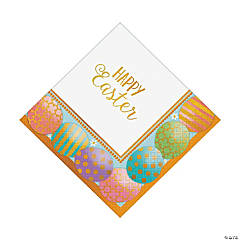 Golden Easter Luncheon Napkins