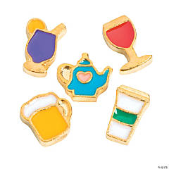 Goldtone Beverage Floating Charms