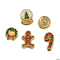 Goldtone Christmas Floating Charm Assortment