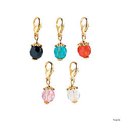 Goldtone Color Bead Dangles - 30mm