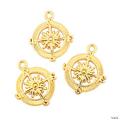 Goldtone Compass Charms