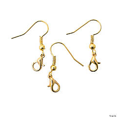 Goldtone Earrings with Clasp