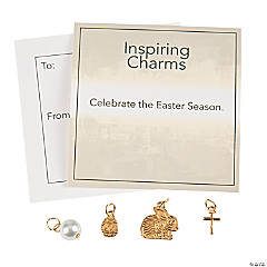 Goldtone Easter Charms with Inspirational Tag