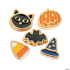 Goldtone Halloween Floating Locket Charms