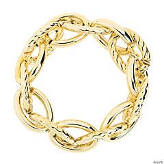 Goldtone Large Link Bracelets