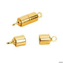 Goldtone Magnetic Barrel Clasps