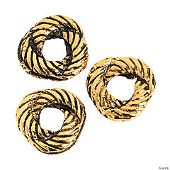 Goldtone Rope Knot Beads - 6mm