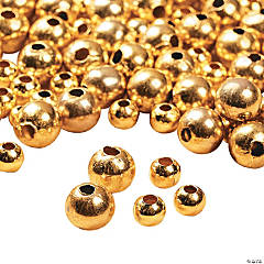 Goldtone Round Beads - 4mm