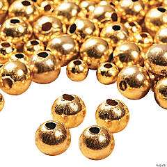 Goldtone Round Beads - 6mm