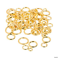 Goldtone Soldered Jumprings - 4mm - 10mm