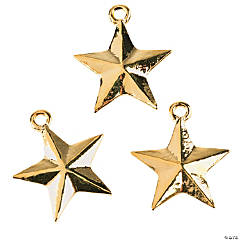 Goldtone Star Charms