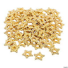Goldtone Star-Shaped Spacer Beads - 10mm