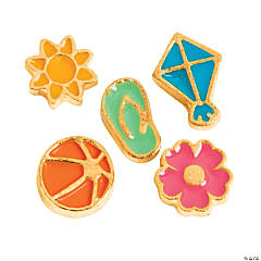 Goldtone Summer Fun Floating Charms