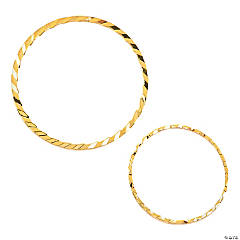 Goldtone Textured Wire Rings
