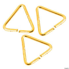 Goldtone Triangle Jump Rings