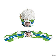 Golf Par-Tee Customt Photo Cupcake Wrappers