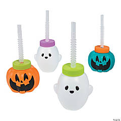Goofy Ghouls Molded Cup with Straws