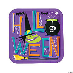 Goofy Ghouls Paper Dinner Plates
