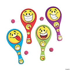 Goofy Smile Face Paddle Ball Games