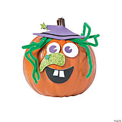 Goofy Witch Pumpkin Decorating Craft Kit