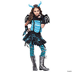 Goth Dragon Fairy Costume for Girls