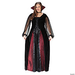 Goth Maiden Vampire Plus-Size Costume for Women