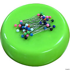 Grabbit Magneti Pincushion W/50Pins-Lime
