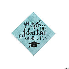 Graduation Adventure Beverage Napkins